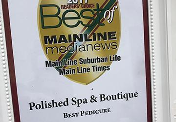 Polished Spa & Boutique – Best Pedicure – 2017 Main Line Life